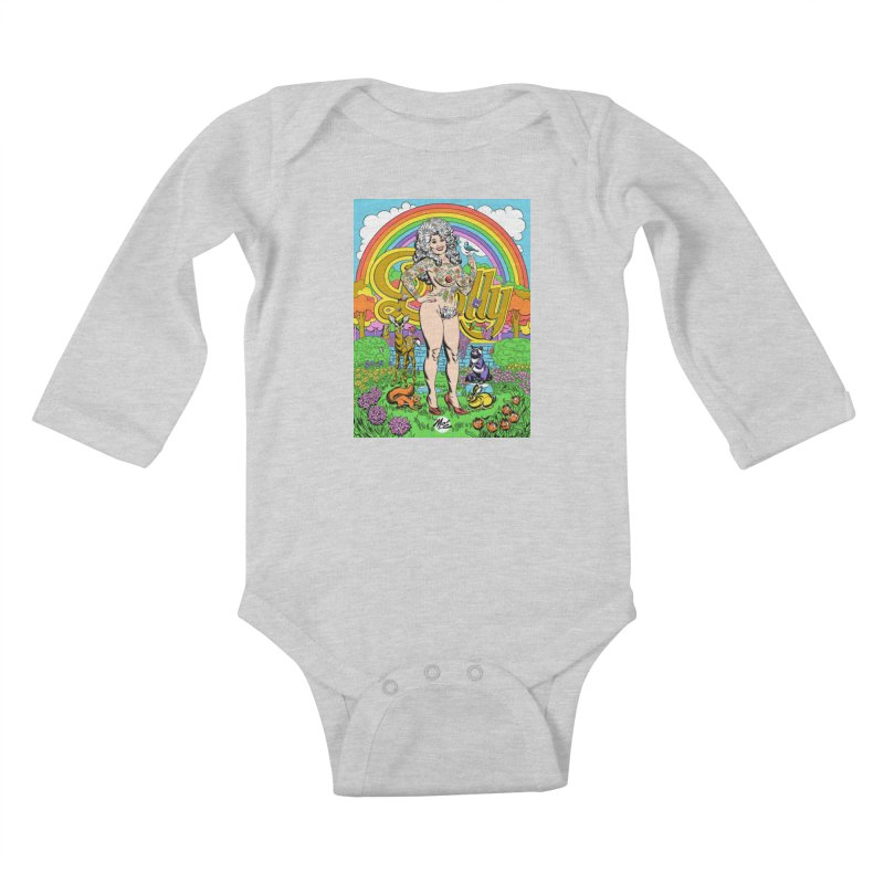 Tattooed Dolly! Kids Baby Longsleeve Bodysuit by Mitch O'Connell
