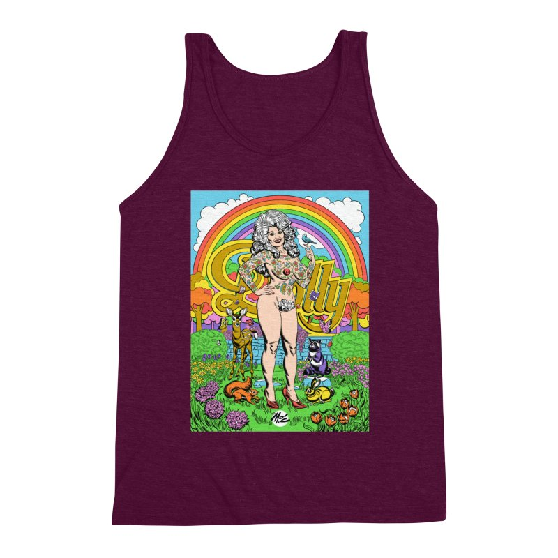 Tattooed Dolly! Men's Triblend Tank by Mitch O'Connell