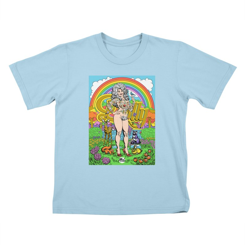 Tattooed Dolly! Kids T-Shirt by Mitch O'Connell