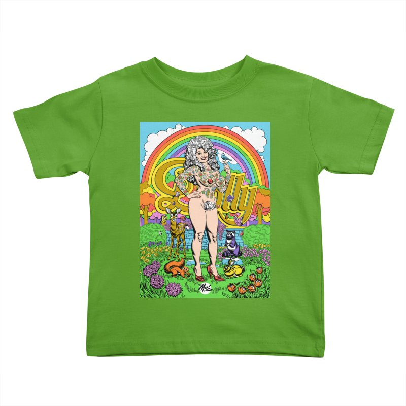Tattooed Dolly! Kids Toddler T-Shirt by Mitch O'Connell