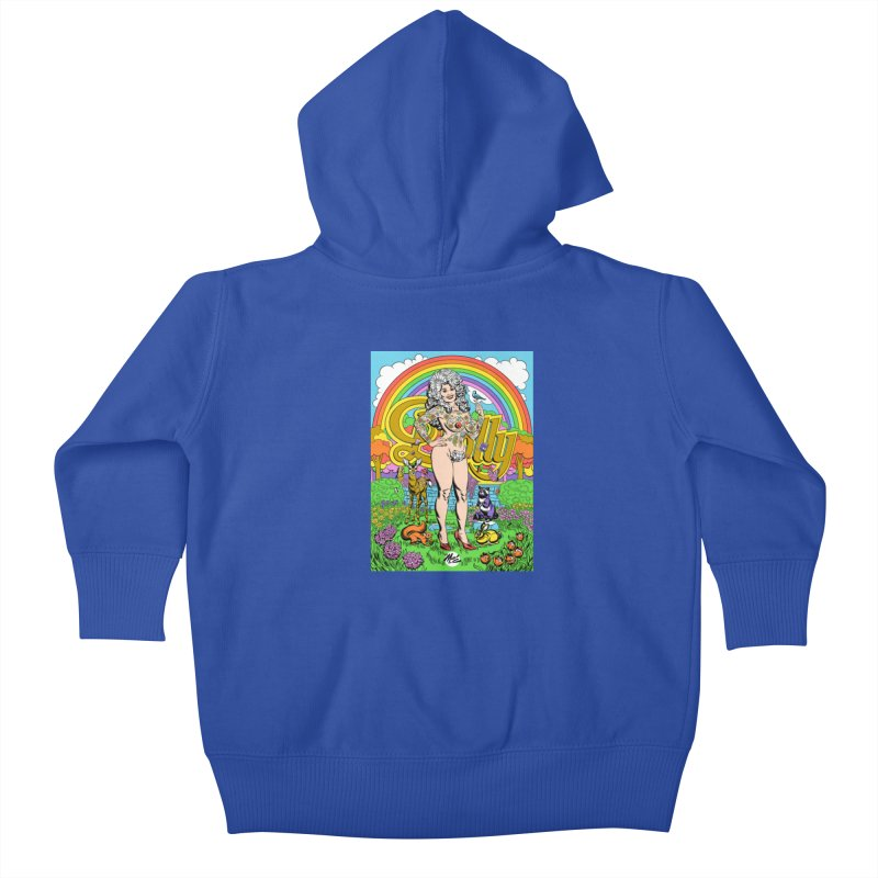 Tattooed Dolly! Kids Baby Zip-Up Hoody by Mitch O'Connell