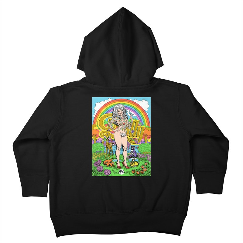 Tattooed Dolly! Kids Toddler Zip-Up Hoody by Mitch O'Connell