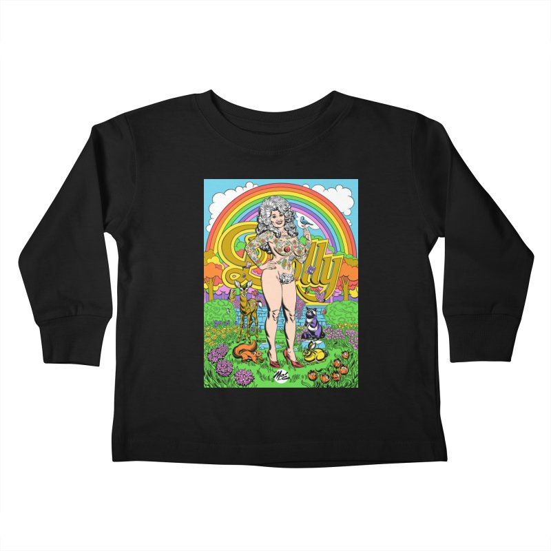Tattooed Dolly! Kids Toddler Longsleeve T-Shirt by Mitch O'Connell