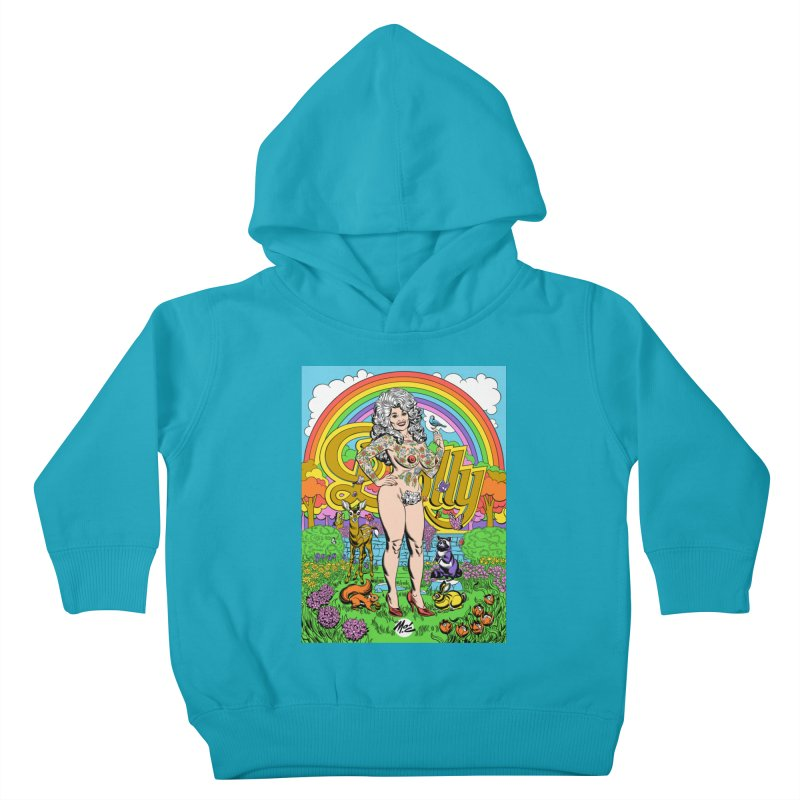 Tattooed Dolly! Kids Toddler Pullover Hoody by Mitch O'Connell