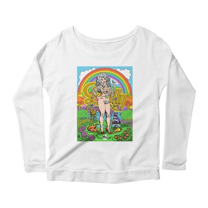 Tattooed Dolly! Women's Scoop Neck Longsleeve T-Shirt by Mitch O'Connell