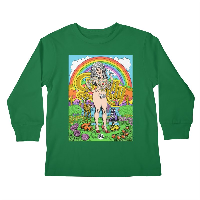 Tattooed Dolly! Kids Longsleeve T-Shirt by Mitch O'Connell