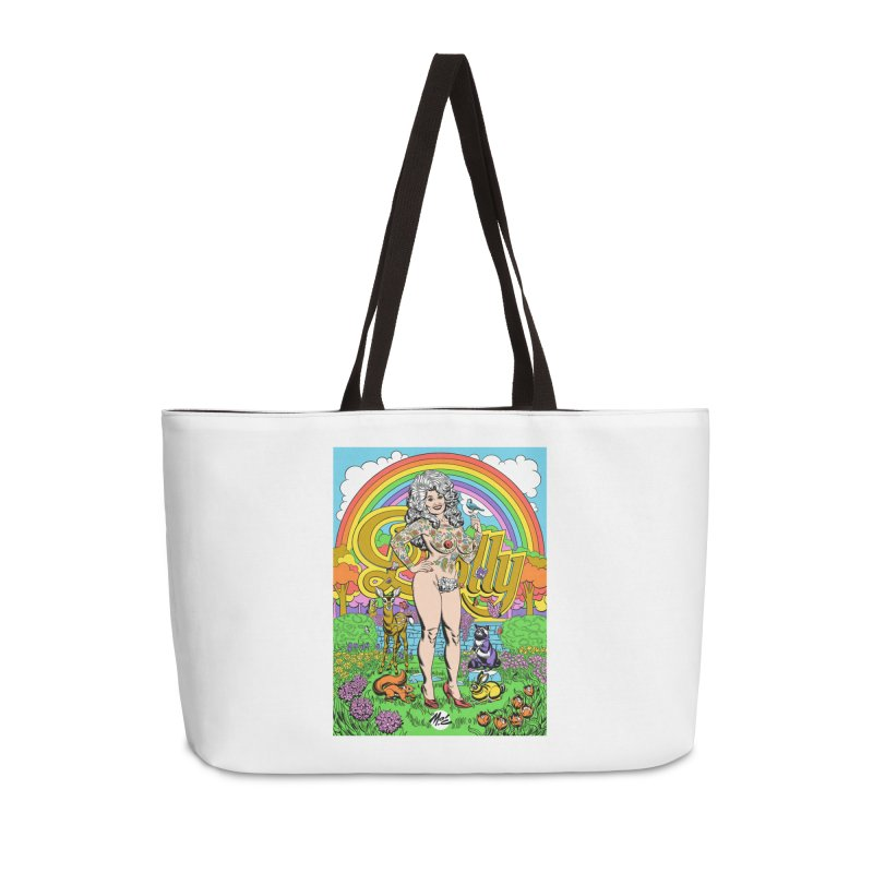 Tattooed Dolly! Accessories Weekender Bag Bag by Mitch O'Connell
