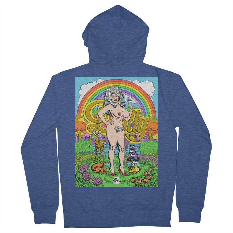 Dolly! Men's French Terry Zip-Up Hoody by Mitch O'Connell