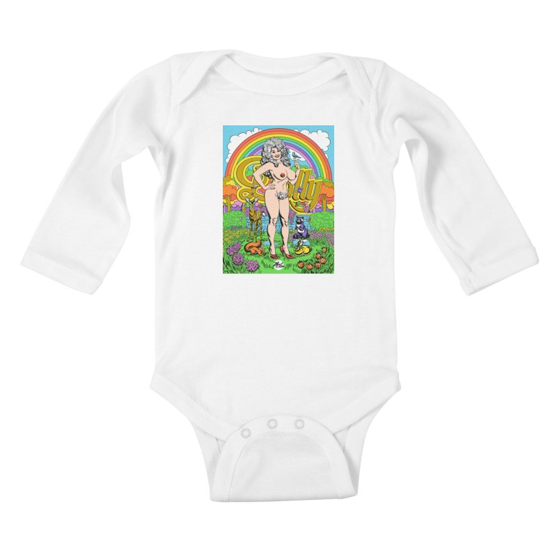Dolly! Kids Baby Longsleeve Bodysuit by Mitch O'Connell