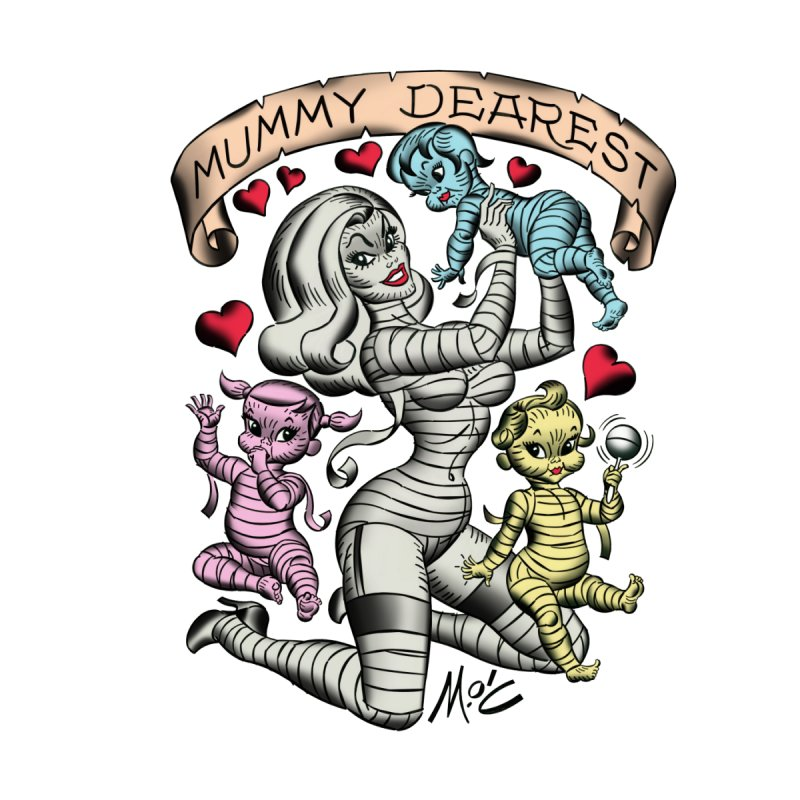 Mummy Dearest Accessories Zip Pouch by Mitch O'Connell