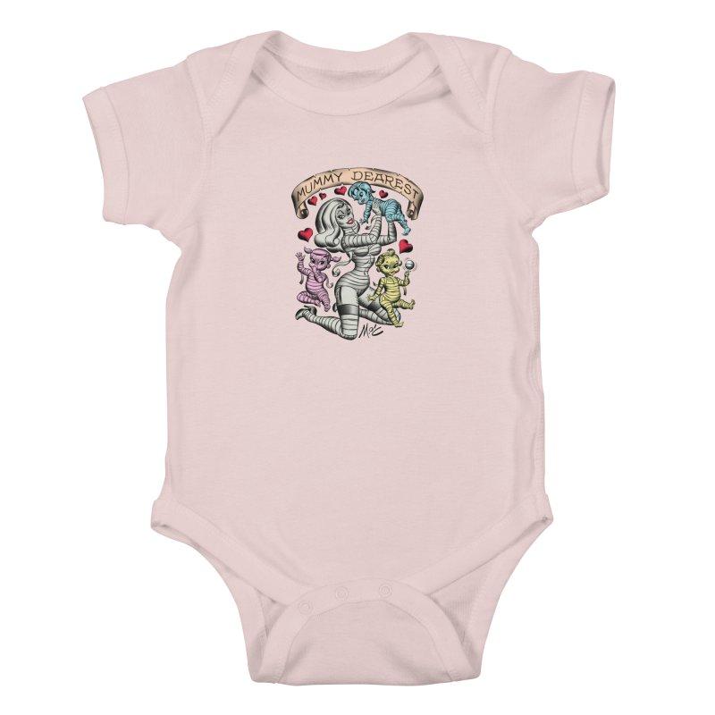 Mummy Dearest Kids Baby Bodysuit by Mitch O'Connell
