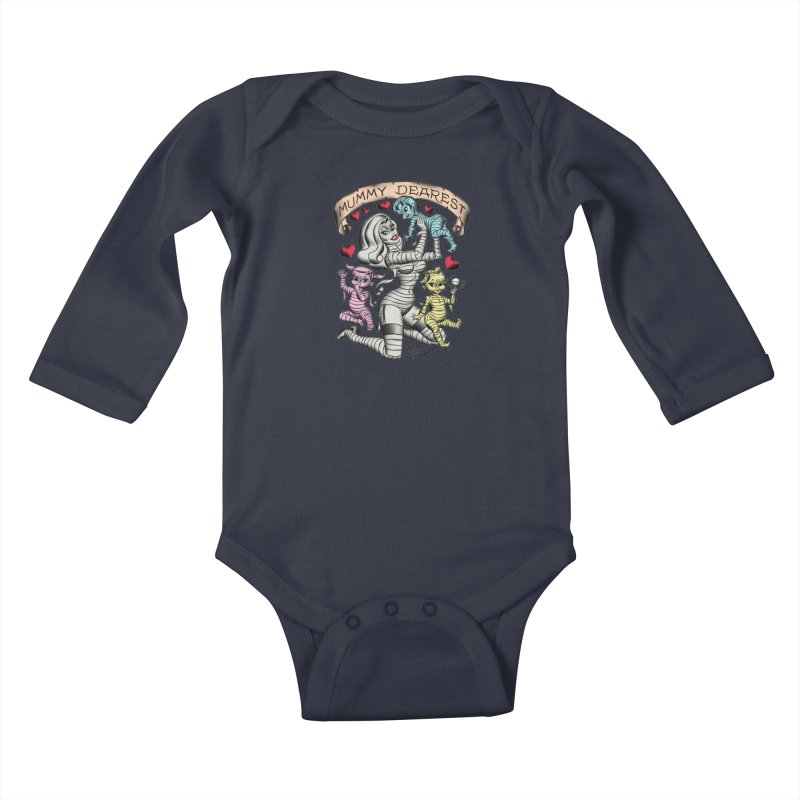 Mummy Dearest Kids Baby Longsleeve Bodysuit by Mitch O'Connell
