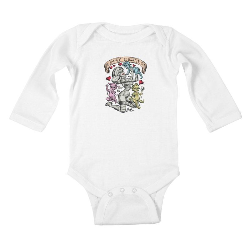 Mummy Dearest Kids Baby Longsleeve Bodysuit by Mitch O'Connell
