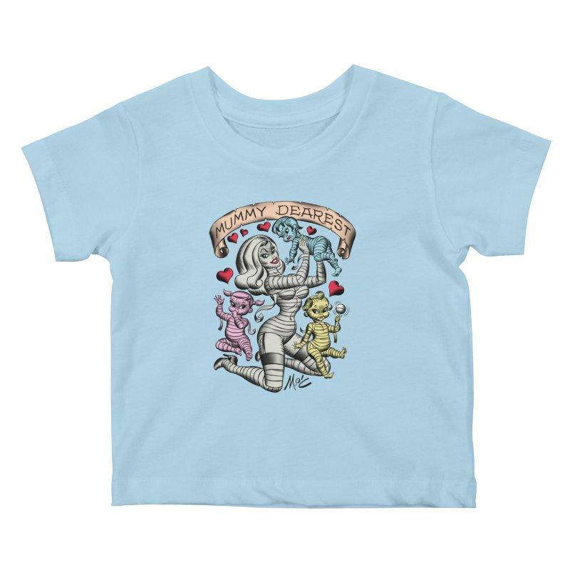 Mummy Dearest Kids Baby T-Shirt by Mitch O'Connell