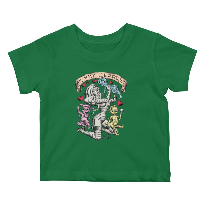 Mummy Dearest Kids Baby T-Shirt by Mitch O'Connell