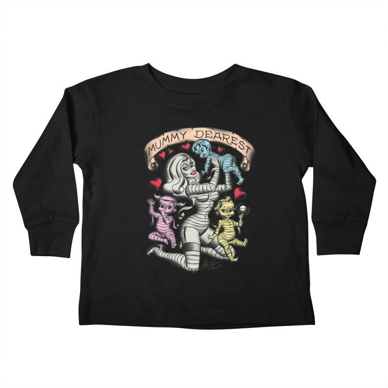 Mummy Dearest Kids Toddler Longsleeve T-Shirt by Mitch O'Connell