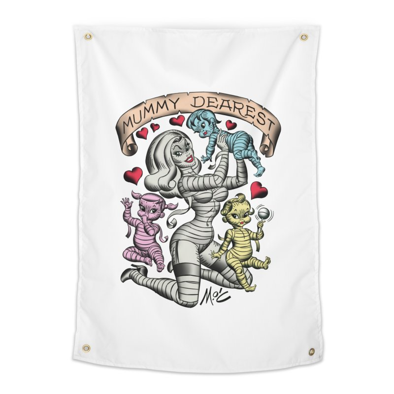 Mummy Dearest Home Tapestry by Mitch O'Connell