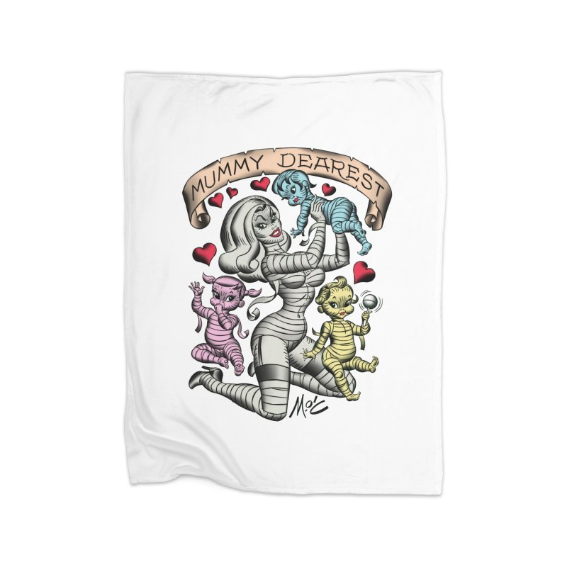 Mummy Dearest Home Blanket by Mitch O'Connell