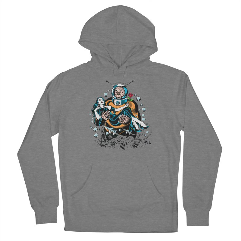 When A Ro-Man Loves A Wo-Man! Women's Pullover Hoody by Mitch O'Connell