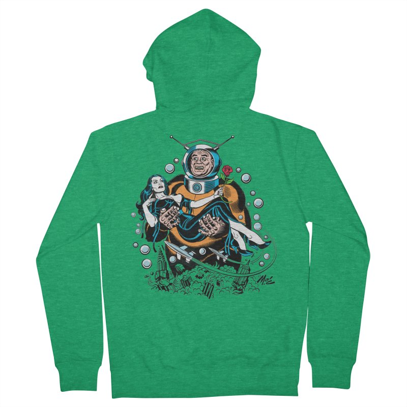When A Ro-Man Loves A Wo-Man! Men's Zip-Up Hoody by Mitch O'Connell