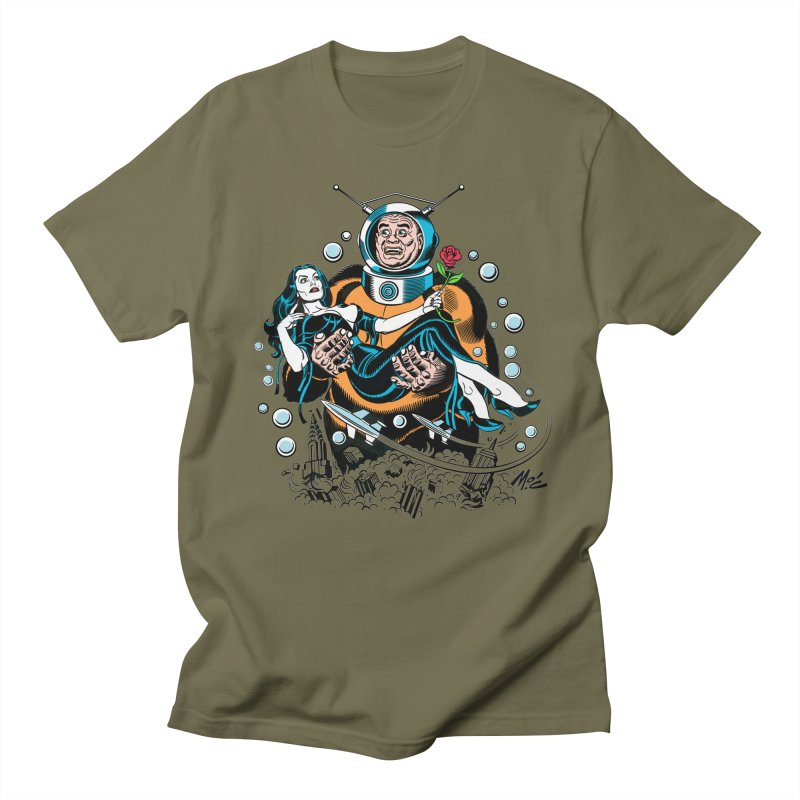 When A Ro-Man Loves A Wo-Man! Men's T-Shirt by Mitch O'Connell