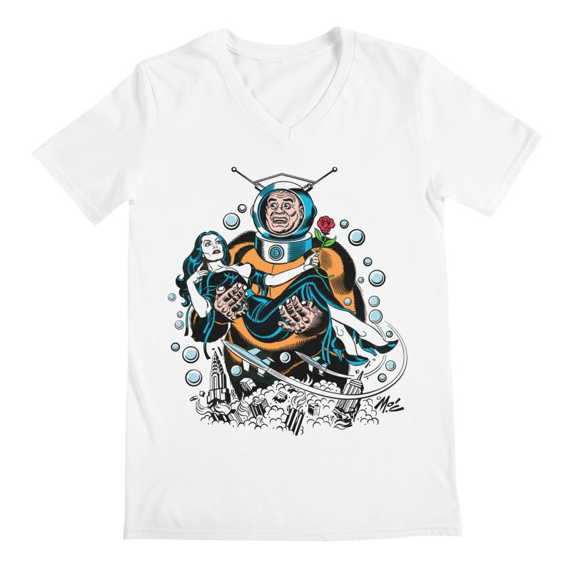 When A Ro-Man Loves A Wo-Man! Men's V-Neck by Mitch O'Connell