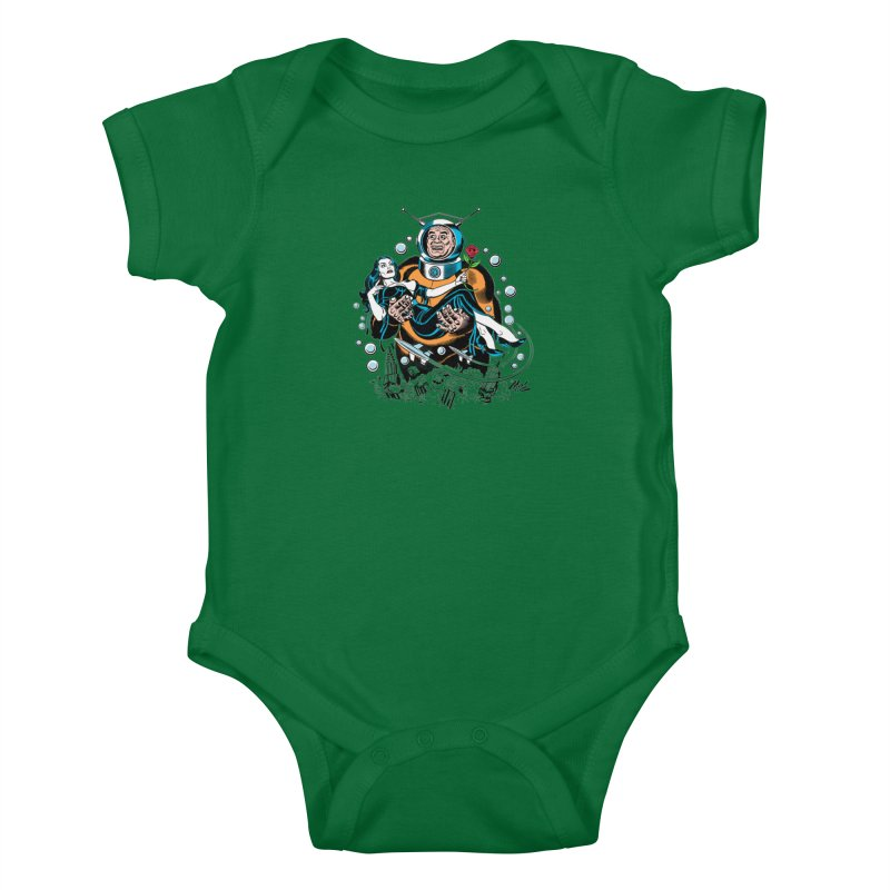 When A Ro-Man Loves A Wo-Man! Kids Baby Bodysuit by Mitch O'Connell