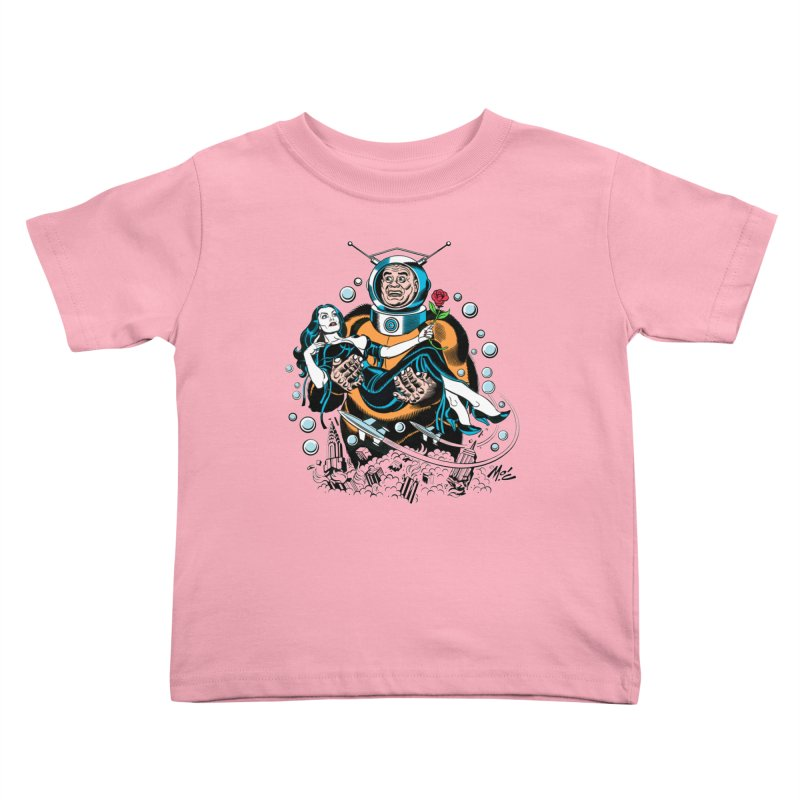 When A Ro-Man Loves A Wo-Man! Kids Toddler T-Shirt by Mitch O'Connell