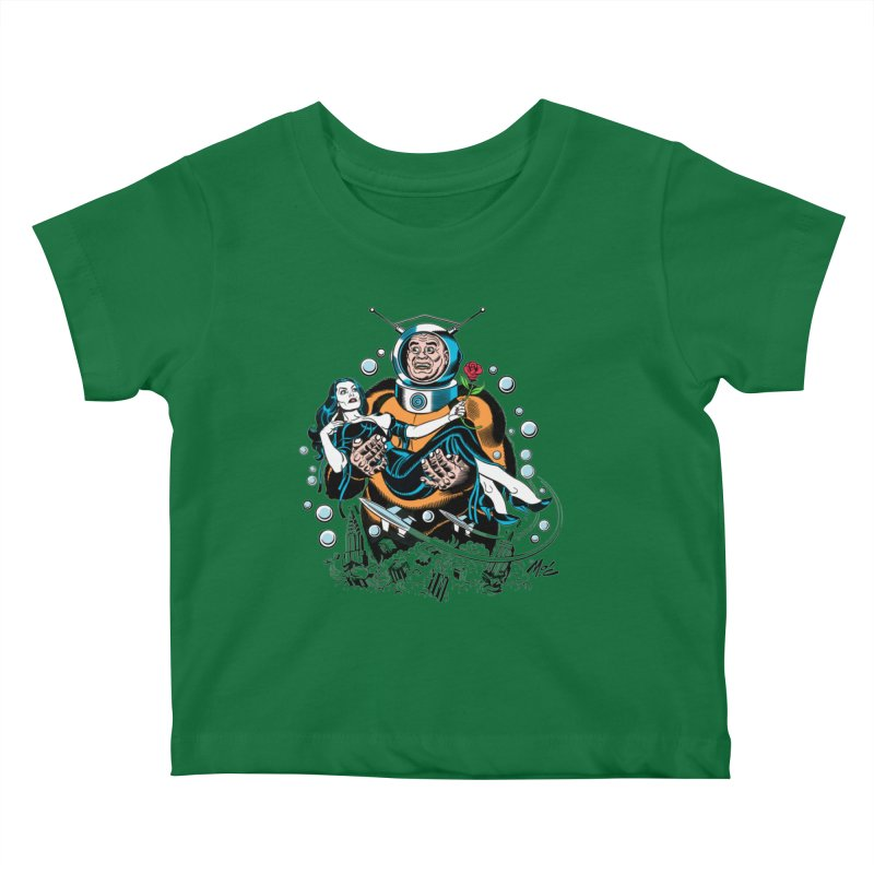 When A Ro-Man Loves A Wo-Man! Kids Baby T-Shirt by Mitch O'Connell