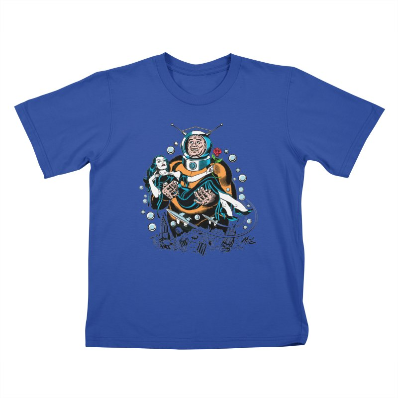 When A Ro-Man Loves A Wo-Man! Kids T-Shirt by Mitch O'Connell