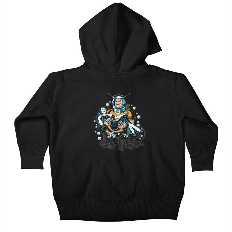 When A Ro-Man Loves A Wo-Man! Kids Baby Zip-Up Hoody by Mitch O'Connell