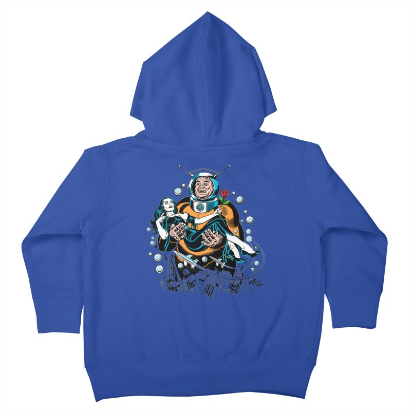 When A Ro-Man Loves A Wo-Man! Kids Toddler Zip-Up Hoody by Mitch O'Connell