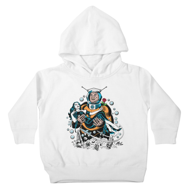 When A Ro-Man Loves A Wo-Man! Kids Toddler Pullover Hoody by Mitch O'Connell