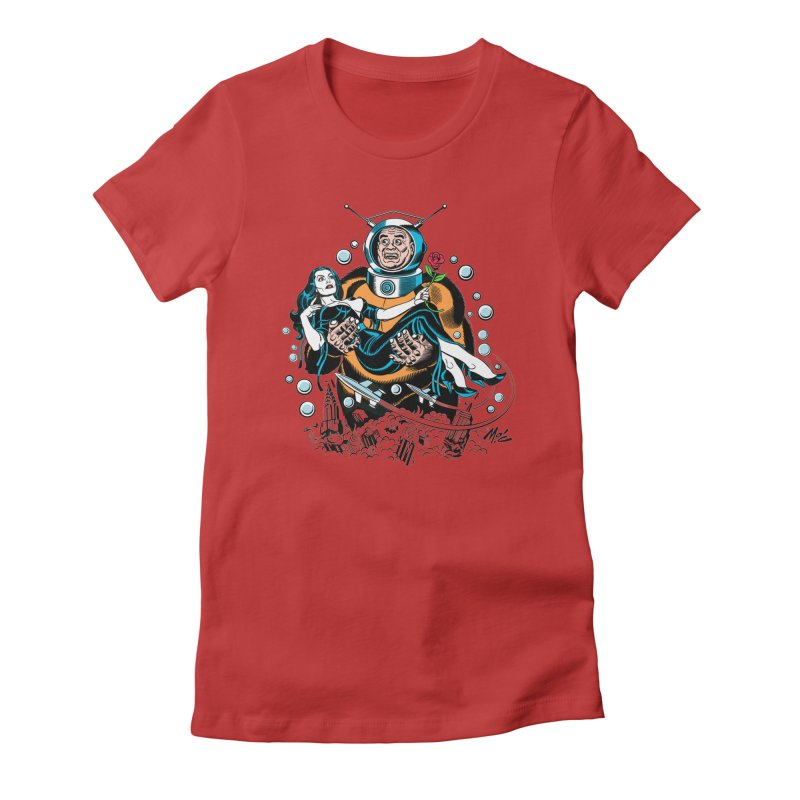 When A Ro-Man Loves A Wo-Man! Women's T-Shirt by Mitch O'Connell