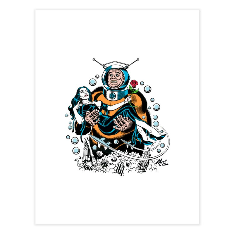 When A Ro-Man Loves A Wo-Man! Home Fine Art Print by Mitch O'Connell