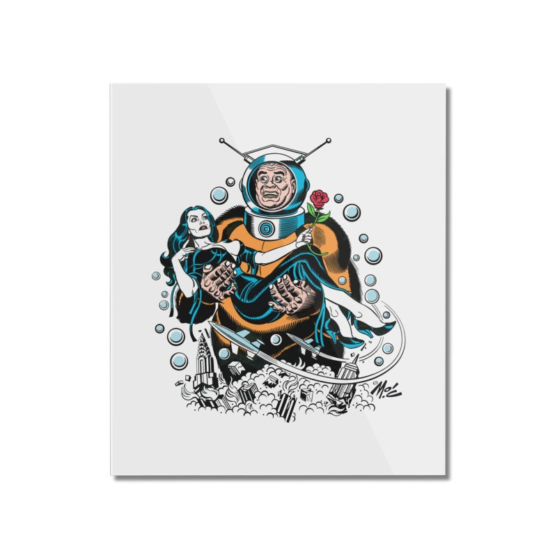 When A Ro-Man Loves A Wo-Man! Home Mounted Acrylic Print by Mitch O'Connell