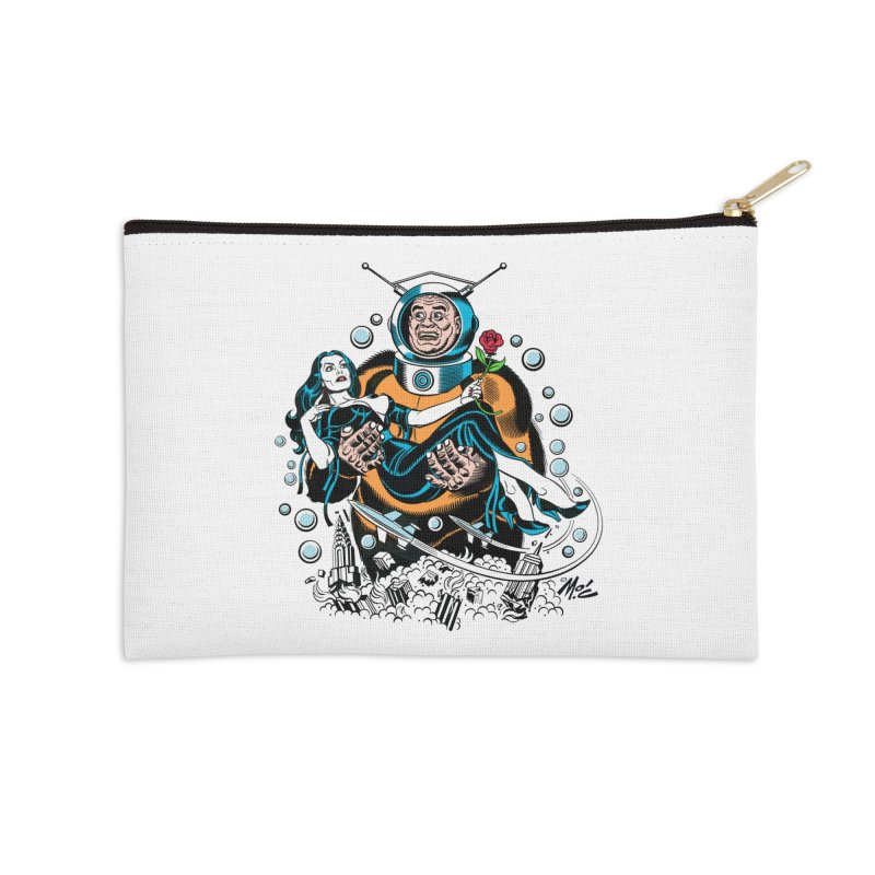 When A Ro-Man Loves A Wo-Man! Accessories Zip Pouch by Mitch O'Connell