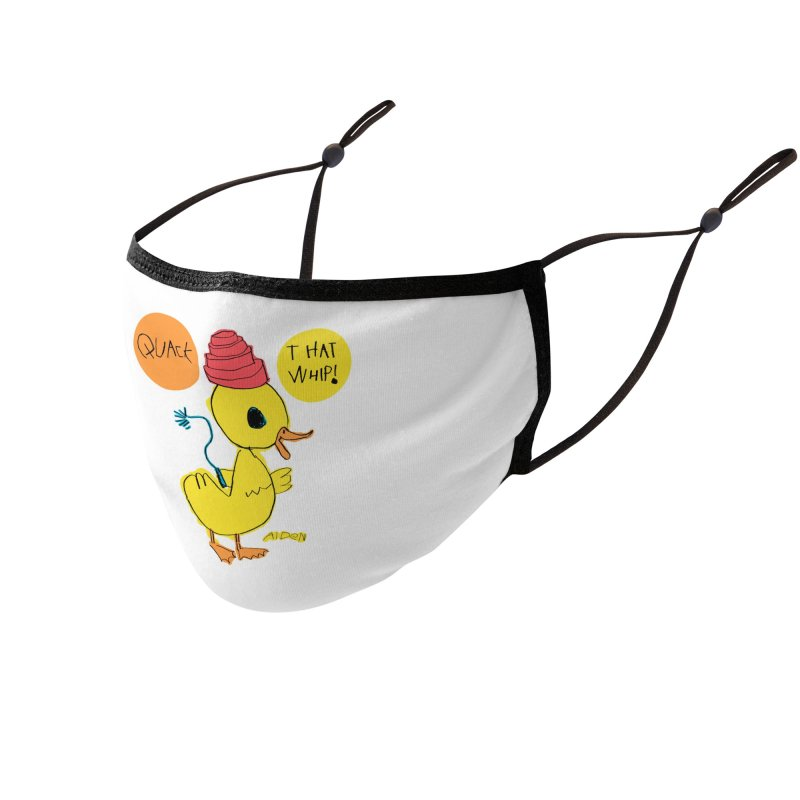 Quack That Whip! Accessories Face Mask by Mitch O'Connell