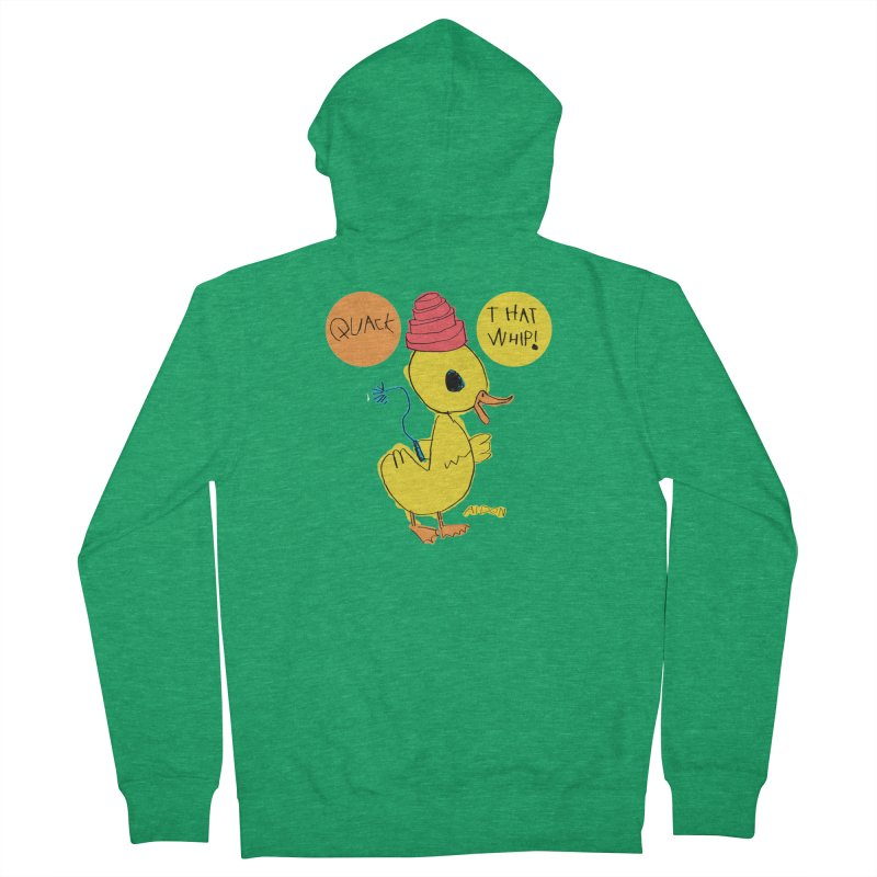 Quack That Whip! Men's Zip-Up Hoody by Mitch O'Connell
