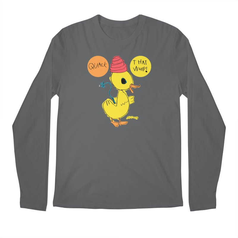 Quack That Whip! Men's Longsleeve T-Shirt by Mitch O'Connell
