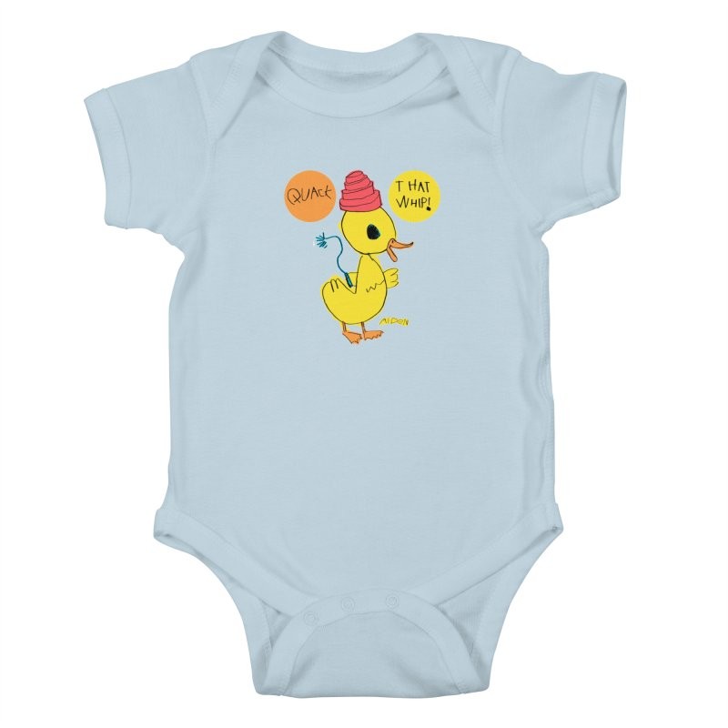 Quack That Whip! Kids Baby Bodysuit by Mitch O'Connell