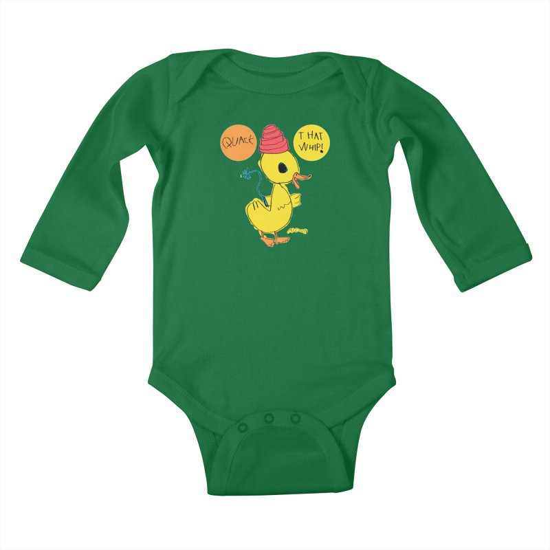 Quack That Whip! Kids Baby Longsleeve Bodysuit by Mitch O'Connell