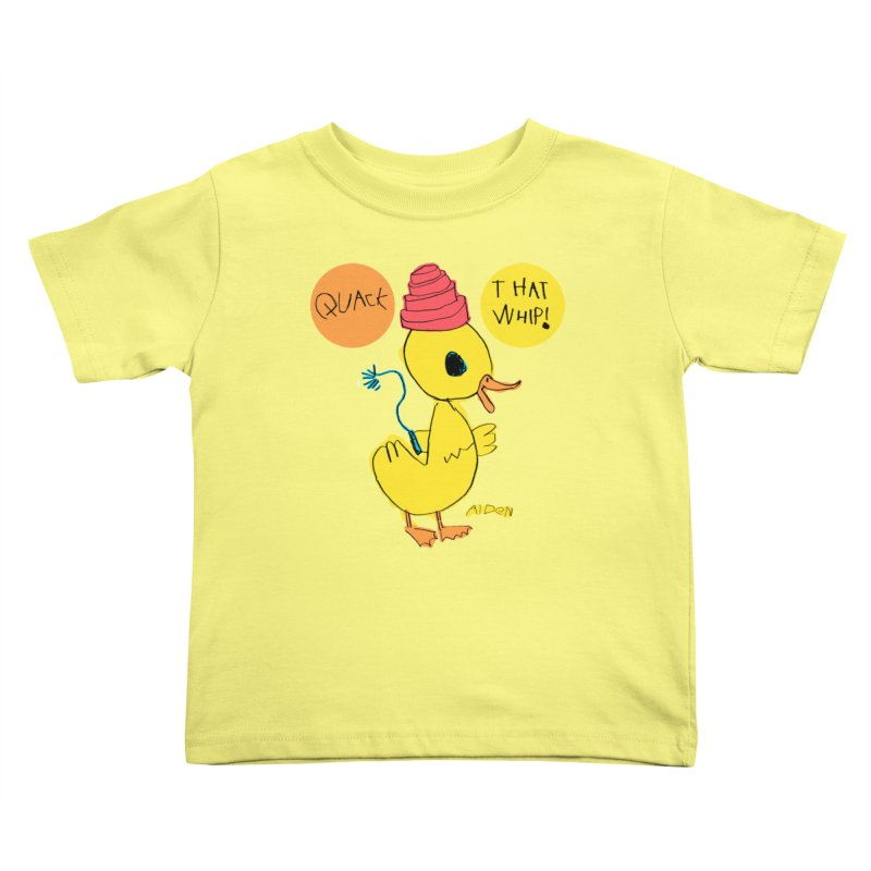 Quack That Whip! Kids Toddler T-Shirt by Mitch O'Connell