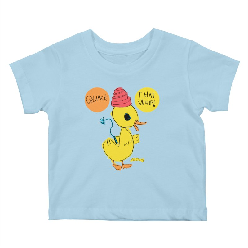 Quack That Whip! Kids Baby T-Shirt by Mitch O'Connell
