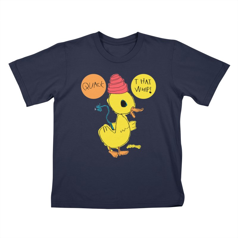 Quack That Whip! Kids T-Shirt by Mitch O'Connell