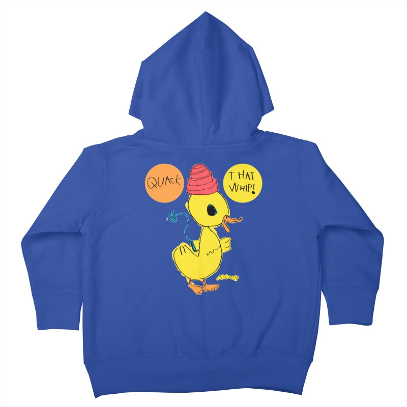 Quack That Whip! Kids Toddler Zip-Up Hoody by Mitch O'Connell