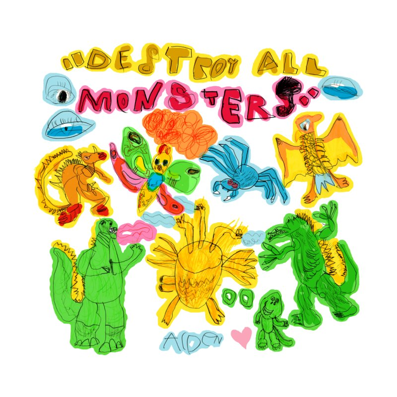 Destroy All Monsters! Men's T-Shirt by Mitch O'Connell