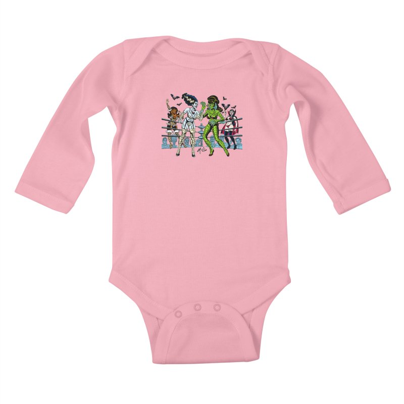 Halloween 2020! Kids Baby Longsleeve Bodysuit by Mitch O'Connell