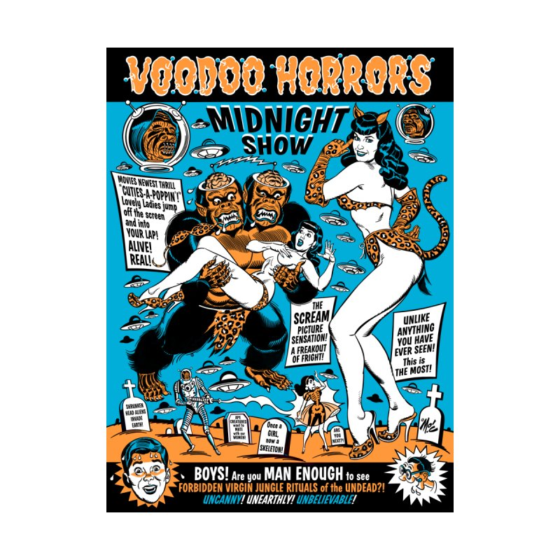 Voodoo Spookshow! Women's Scoop Neck by Mitch O'Connell