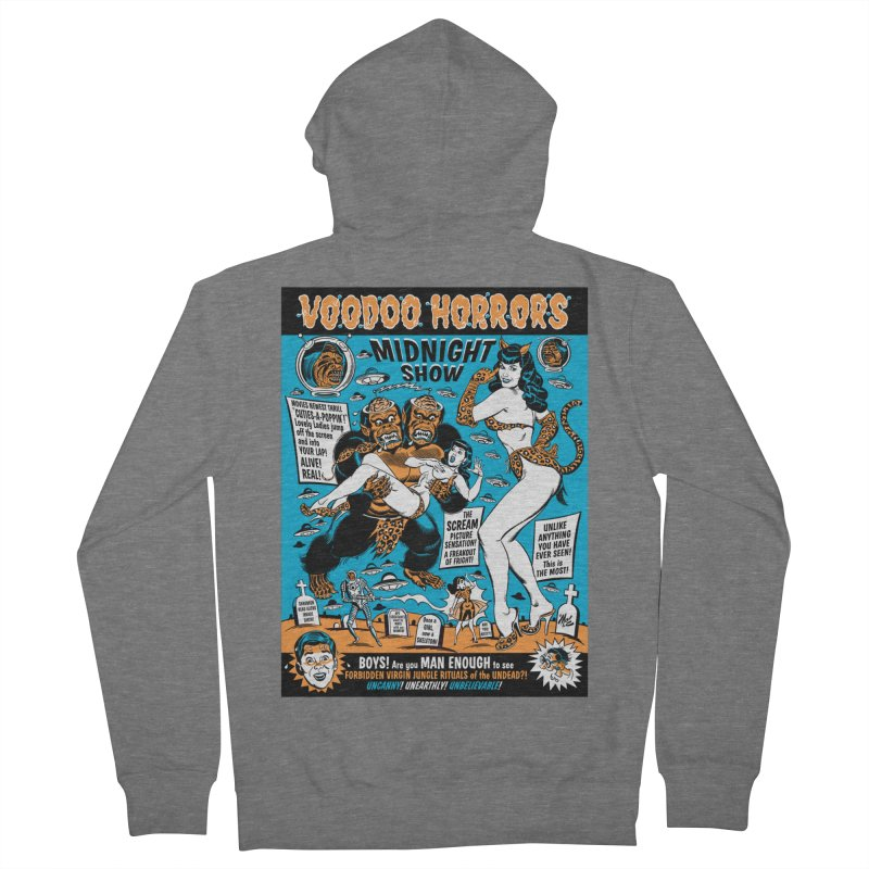 Voodoo Spookshow! Men's Zip-Up Hoody by Mitch O'Connell